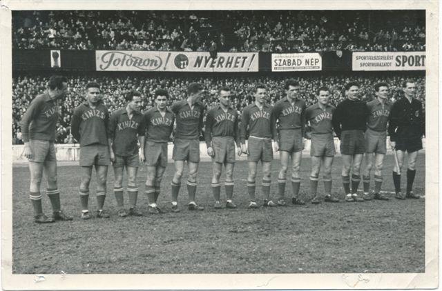 csapatkép, 1956.04.15., Kinizsi 3-0 Szeged_20131204_0001