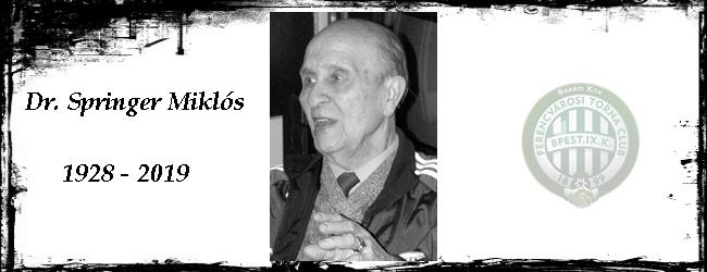 Elhunyt Dr. Springer Miklós